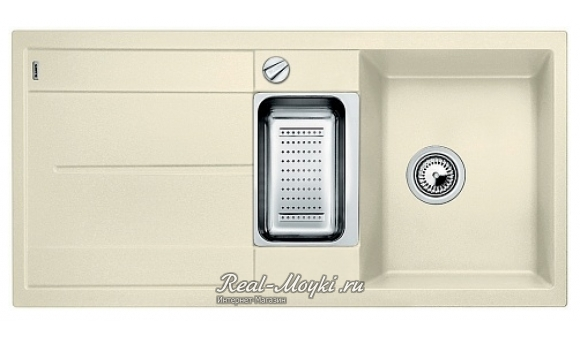 Мойка для кухни Blanco Metra 6 S-F с клапаном-автоматом