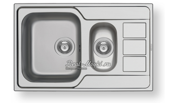 Мойка для кухни Pyramis Athena Extra 79X50 1 1/2B 1D