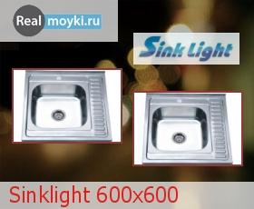 Кухонная мойка Sinklight 600x600