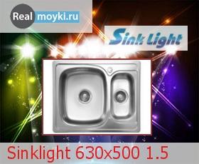 Кухонная мойка Sinklight 630x500 1.5