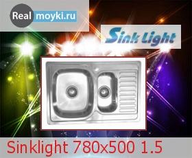 Кухонная мойка Sinklight 780x500 1.5