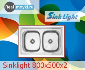 Кухонная мойка Sinklight 800x500х2