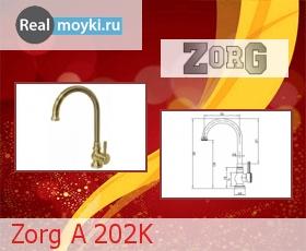 Кухонный смеситель Zorg A 202K