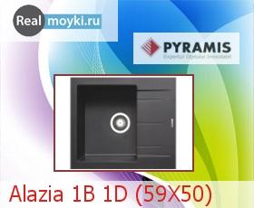 Кухонная мойка Pyramis Alazia 1B 1D (59X50)
