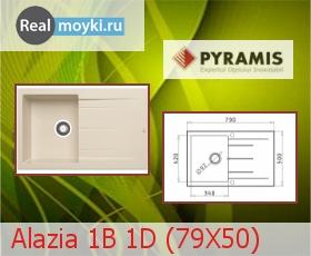 Кухонная мойка Pyramis Alazia 1B 1D (79X50)