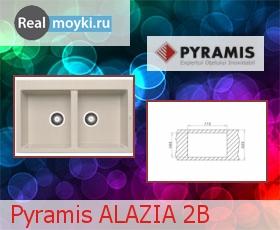 Кухонная мойка Pyramis ALAZIA 2B