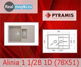 Кухонная мойка Pyramis Alinia 1 1/2B 1D (78X51)