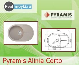 Кухонная мойка Pyramis Alinia Corto