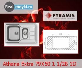 Кухонная мойка Pyramis Athena Extra 79X50 1 1/2B 1D