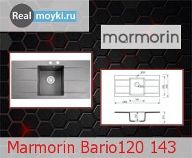 Кухонная мойка Marmorin Bario120 143