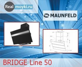 Кухонная вытяжка Maunfeld BRIDGE Line 50