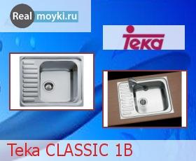Кухонная мойка Teka Classic 1B 1/2D