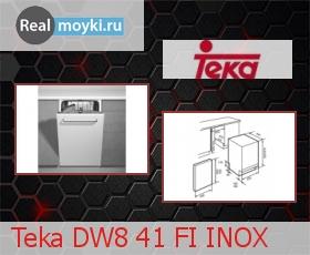 Посудомойка Teka DW8 41 FI INOX