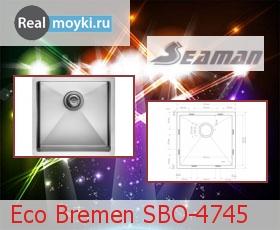 Кухонная мойка Seaman Eco Bremen SBO-4745
