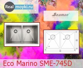 Кухонная мойка Seaman SME-745D