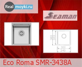 Кухонная мойка Seaman Eco Roma SMR-3438A