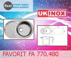 Кухонная мойка Ukinox Фаворит FA 770.480