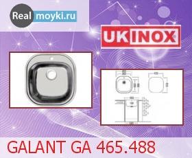Кухонная мойка Ukinox Галант GA 465.488