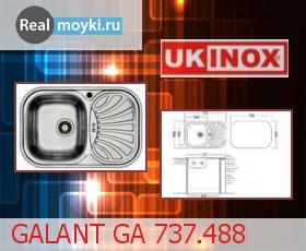 Кухонная мойка Ukinox Галант GA 737.488