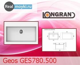 Кухонная мойка Longran Geos GES780.500