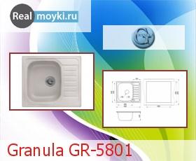 Кухонная мойка Granula GR-5801