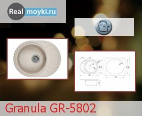 Кухонная мойка Granula GR-5802