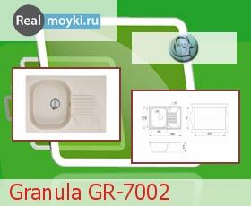 Кухонная мойка Granula GR-7002