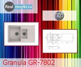 Кухонная мойка Granula GR-7802