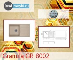 Кухонная мойка Granula GR-8002