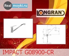 Кухонный смеситель Longran IMPACT G08900-CR