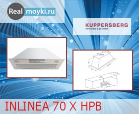 Кухонная вытяжка Kuppersberg Inlinea 70 X 4HPB
