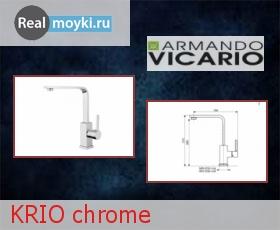 Кухонный смеситель Armando Vicario KRIO chrome