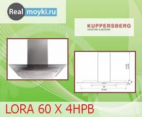 Кухонная вытяжка Kuppersberg Lora 60 X 4HPB