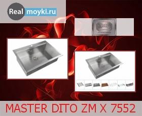 Кухонная мойка Zorg Master Dito Zm X 7552
