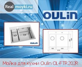 Кухонная мойка Oulin OL-FTR202R