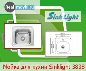 Кухонная мойка Sinklight 3838