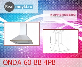 Кухонная вытяжка Kuppersberg ONDA 60 BB 4PB