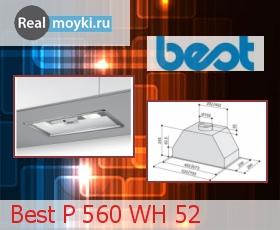 Кухонная вытяжка Best P 560 WH 52