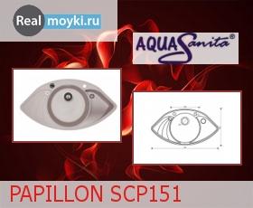 Кухонная мойка Aquasanita Papillon SCP151AW