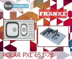 Кухонная мойка Franke POLAR PXL 651-78