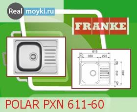 Кухонная мойка Franke POLAR PX 611-60