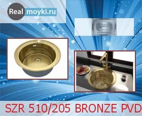 Кухонная мойка Zorg SZR-510/205-Bronze