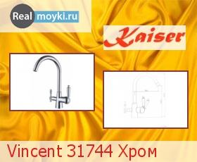 Кухонный смеситель Kaiser Vincent 31744 Хром