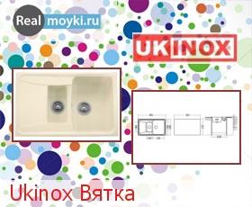 Кухонная мойка Ukinox Вятка